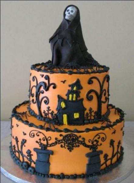 Quel nom porte le gâteau commercialisé pour la fête d'Halloween ?