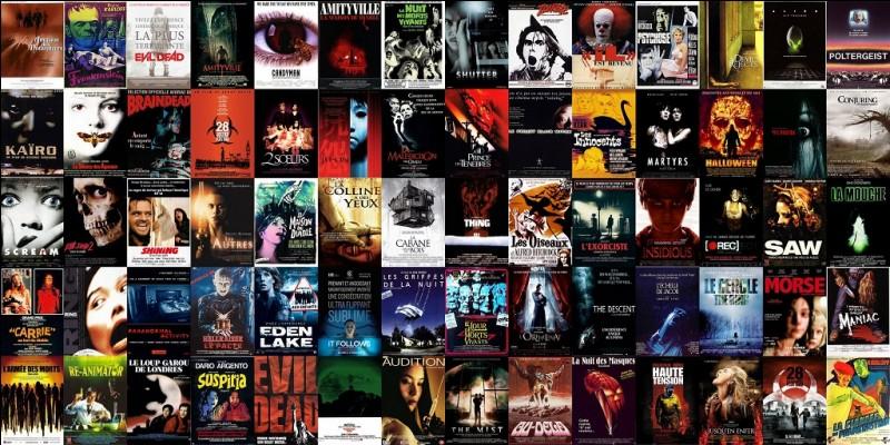 Quel est ton film d'horreur préféré, parmi ceux-là ?