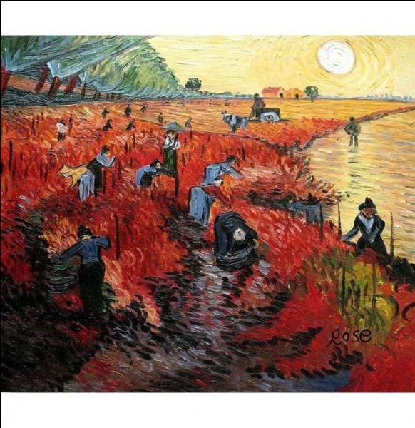"""Quel artiste a peint """"La vigne rouge"""" ?"""
