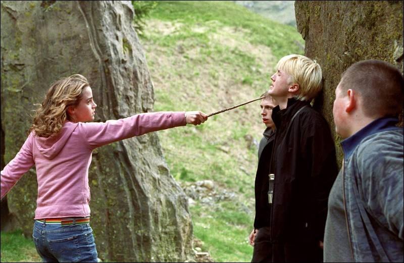 Sélectionne ce qui va se passer entre Hermione et Drago.