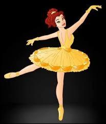Elle est magnifique dans sa belle tenue de danseuse :