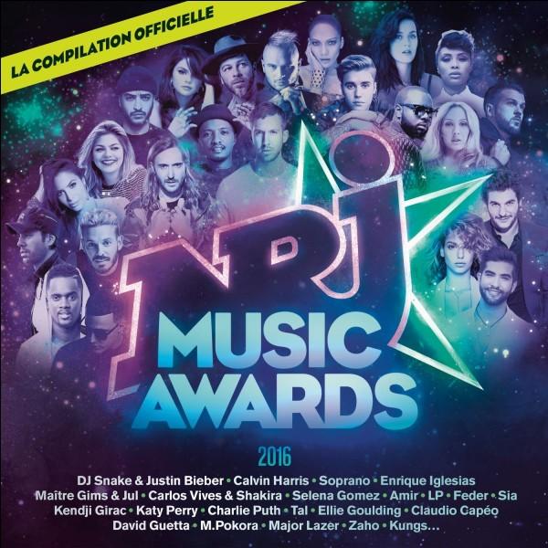 Combien de récompenses reçoit-il des NRJ Music Awards en 2016 ?