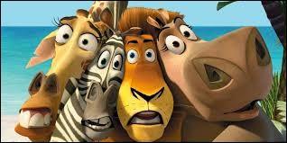 Dans un film d'animation de 2005, sur quelle île Alex le lion et ses trois compagnons sont-ils naufragés ?
