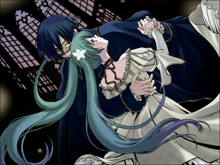 Celle où elle est la petite soeur de Kaito et dans laquelle elle tombe amoureuse de ce dernier ?