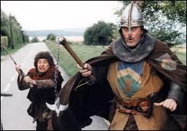 Quelle personne du XXe siècle est propulsé au Moyen-Age à cause de Jacquouille à la fin du film ?