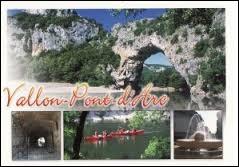 Dans quel département se situe la commune de Vallon-Pont-d'Arc ?