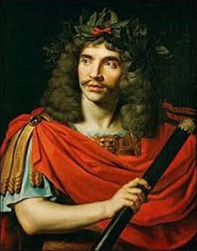 En 1658, quel peintre baroque a dépeint ce portrait de Jean-Baptiste Poquelin, dit Molière, dans le rôle de César dans ''La Mort de Pompée'' ?