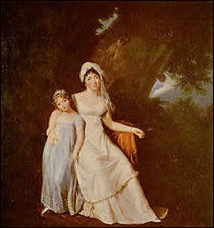 Quelle femme artiste peintre a, en 1805, réalisé ce portrait de l'écrivaine et philosophe Madame de Staël en compagnie de sa fille Albertine ?