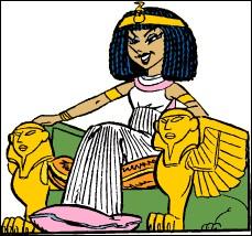 Une fois sortie de son tapis, elle est une des splendeurs de l'Égypte mais, ce nez ...