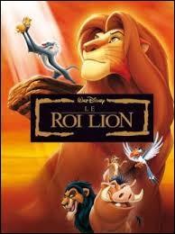 """Quelle chanson est associée au film d'animation """"Le Roi Lion"""" ?"""