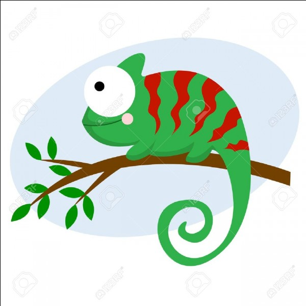 De quelle couleur est le caméléon de Quizz.biz ?