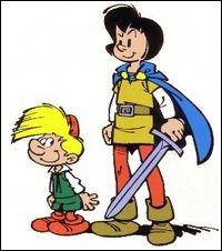 Le grand est plus remarquable ; il veut être un chevalier. Le petit est un gourmand bouffon, mais c'est le compagnon d'action de son courageux comparse :