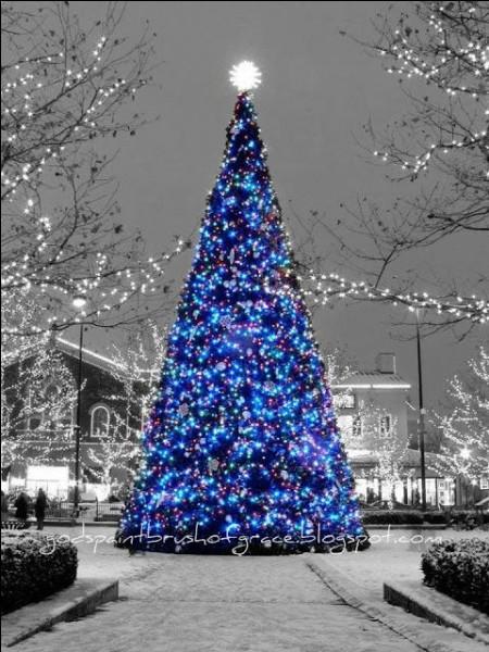 Dans quelle ville française le premier sapin de Noël a-t-il été décoré ?