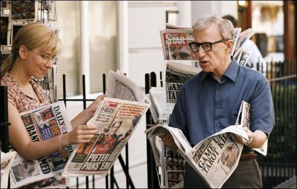 """Woody Allen joue de temps à autre dans ses propres films. Dans le délicieux """"Scoop"""", quel métier est le sien ?"""