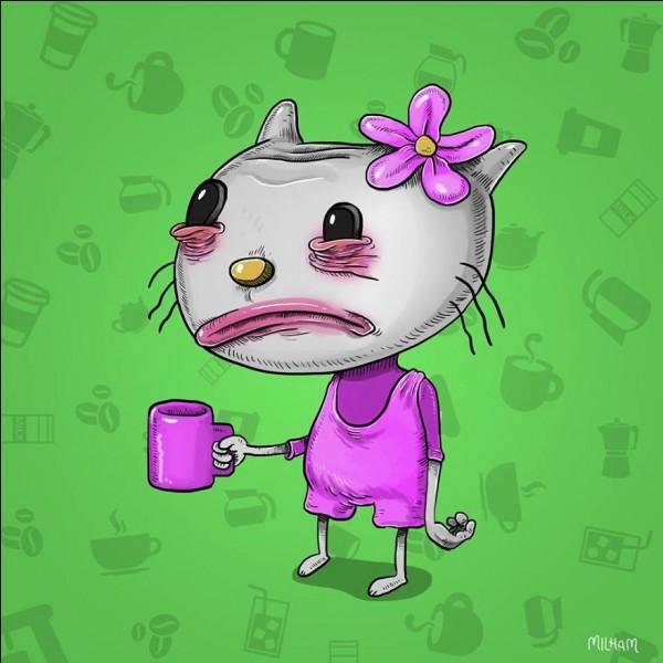 Dites bonjour à Hello Kitty, cette petite chatte (...) qui d'habitude nous fait tous craquer avec ses yeux si mignons. Bon là, j'avoue qu'elle n'est pas très en forme.