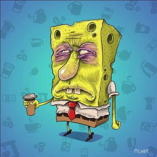 Depuis un incident au Krusty Krab, Bob l'éponge travaille deux fois plus que la normale. Le pauvre, voyez comment il a l'air fatigué. Il ne fait même plus attention à Gary...