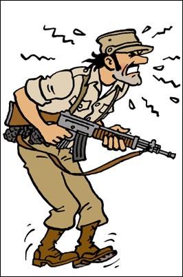 C'est un général dont l'ambition personnelle dicte la morale : il arrive que Tintin et lui soient pour la même cause mais pas avec les mêmes raisons.