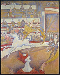 """Ce tableau intitulé """"Le Cirque"""" est l'oeuvre du peintre ..."""
