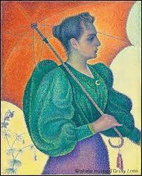 """Intitulé """"Femme à l'ombrelle"""", ce tableau a été peint par ..."""
