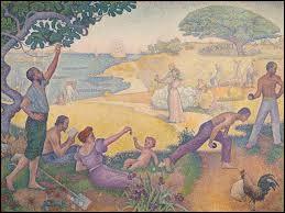 """Pouvez-vous me dire qui a peint ce tableau intitulé """"Au temps d'harmonie"""" ?"""