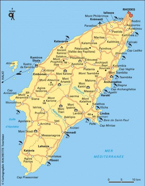 Je baigne l'île de Rhodes :