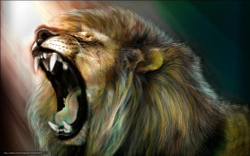 Comment le lion s'exprime-t-il ?