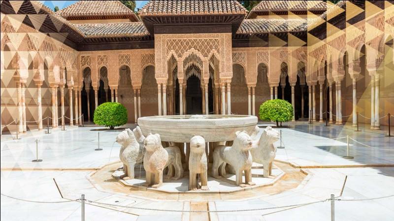 """G - L'Alhambra de """"Grenade"""" en Andalousie, est le témoin de la présence musulmane en Espagne."""