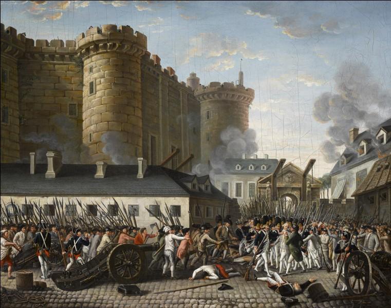 Quel est l'évènement qui s'est produit le 14 juillet 1789 ?
