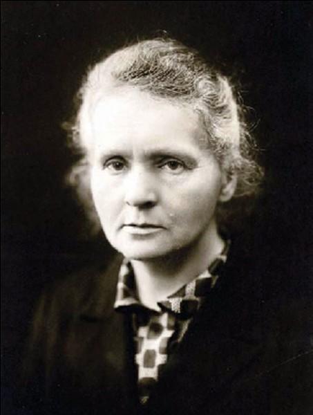 Qu'a découvert Marie Curie ?