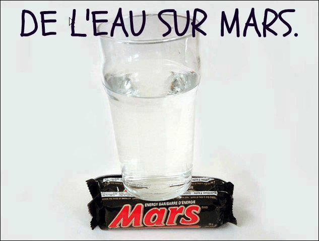 D'après les scientifiques, il y a de l'eau sur Mars :