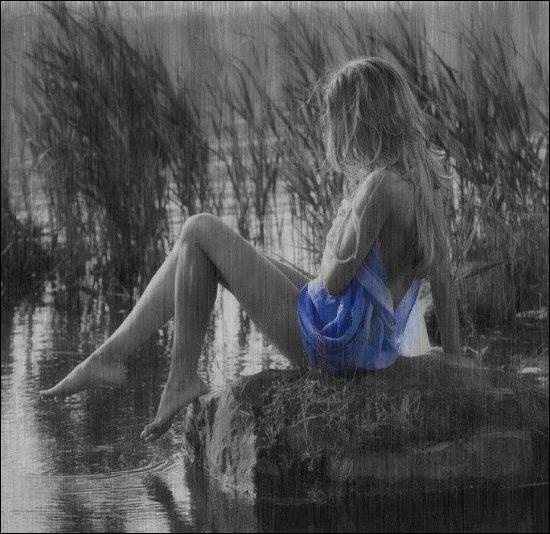 """Qui chantait """"Il pleut sur le jardin sur le rivage, et si j'ai de l'eau dans les yeux c'est qu'il me pleut sur le visage"""" ?"""