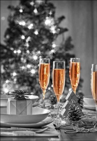 De quelle boisson festive a-t-on peut-être un peu abusé en cette grande occasion ?