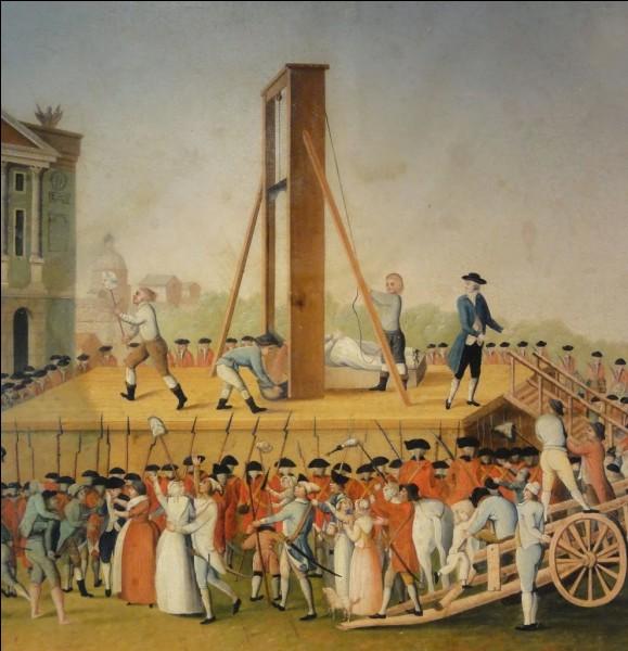 Quel est le premier homme à avoir été guillotiné en 1792 ?