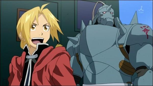 Nous sommes tous les deux alchimistes, mais nous avons chacun perdu quelque chose en essayant de faire revivre notre maman. Pour le plus âgé, il s'agit d'un bras et d'une jambe. Et pour le plus jeune, il s'agit du corps entier. Quels sont les animaux préférés d'Alphonse ?