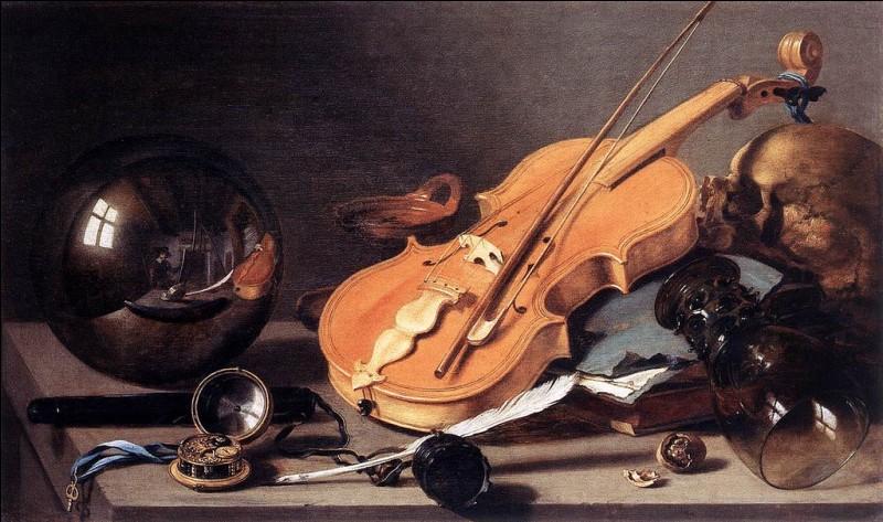 De qui reconnaissez-vous la patte dans cette vanité dite au violon et bille de verre ?