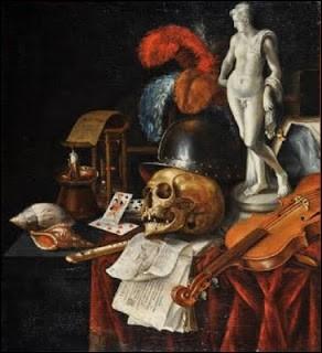 De quel peintre, né à Amsterdam au XVIIe siècle, est cette vanité au casque ?