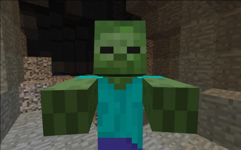 Quel effet les potions de dégât donnent-elles à un zombie ?