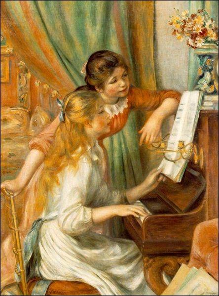 Qui est le peintre des jeunes filles au piano ?