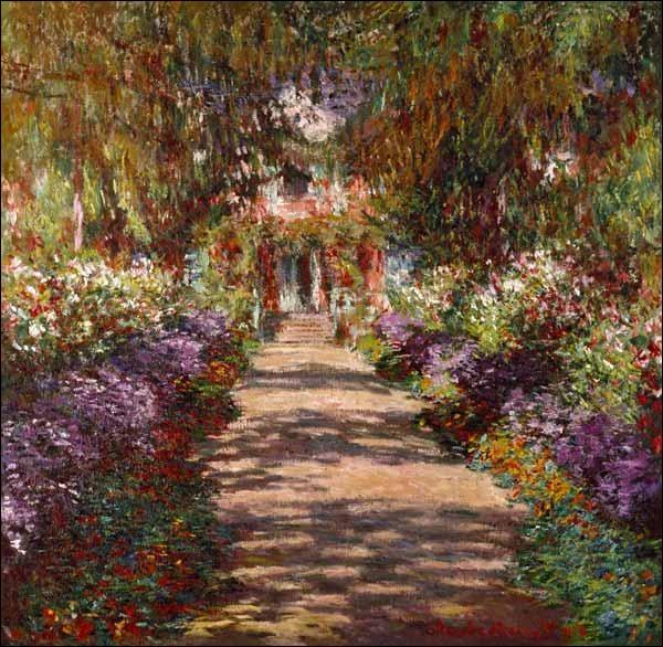 """Qui a représenté """"le jardin à Giverny"""" ?"""