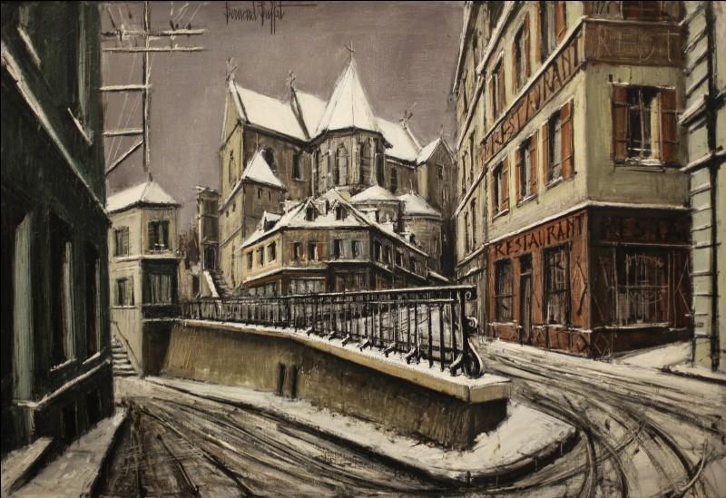 """Qui a peint """"Paysage de neige à Pontoise"""" ?"""