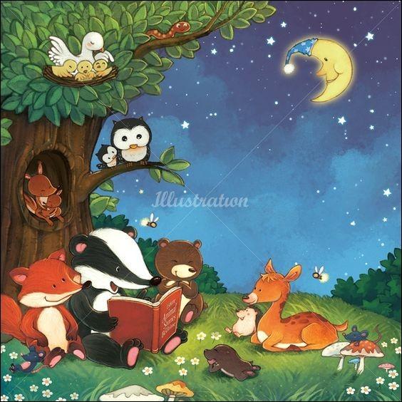 Qui lit un livre aux autres animaux ?