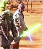 Qui est ce Jedi aux côtés de Maître Kit Fisto lors de la bataille de Géonosis ?