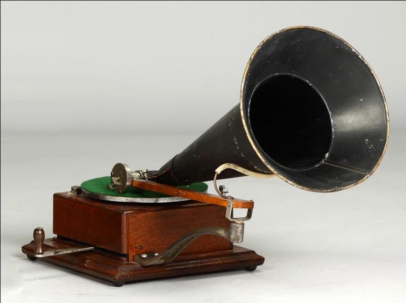 Le gramophone est né au 19e siècle !