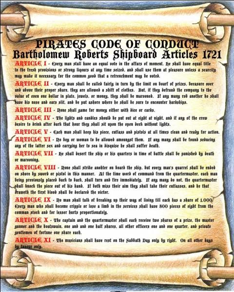 Qui a écrit l'un des plus célèbres codes de la piraterie ?