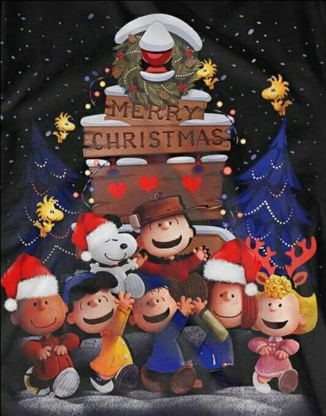 Ils ont tous le sourire, Snoopy, Linus, Sally, Woodstock, Peppermint Patty... Mais il me manque un nom, faut dire qu'avec une tuque !