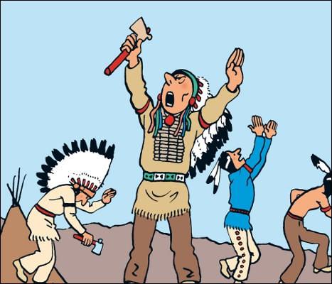 """C'est le chef des Indiens dans """"Tintin en Amérique"""" : de quel nom Hergé l'a-t-il affublé ?"""