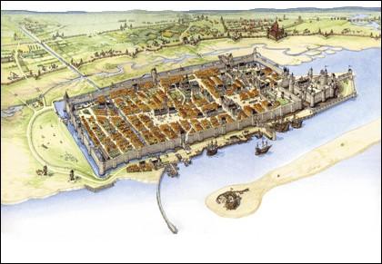 Pendant la guerre de Cent Ans, cette ville est assiégée onze mois par les Anglais, à partir de septembre 1346. De quelle ville maritime s'agit-il ?