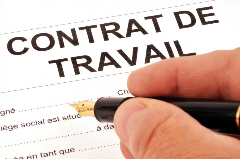 Contrats de travail et rémunérations. Quiz QCM Société