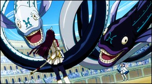 Dans l'arc des Grands Jeux Intermagiques, Yukino affronte Kagura. Qui gagne le duel ?
