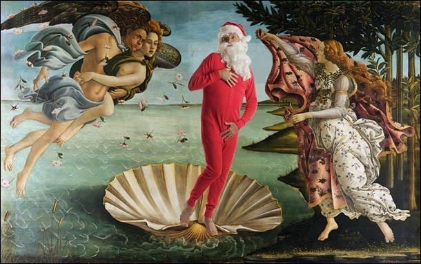 La Vénus a de l'humour, elle est sortie de son coquillage le temps que pose le père Noël. De qui est l'original ?